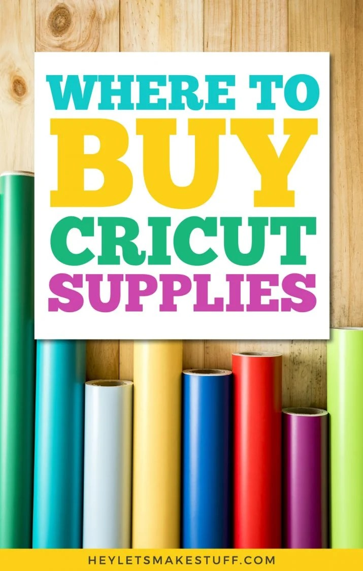 Where to Buy Cricut Supplies pin image