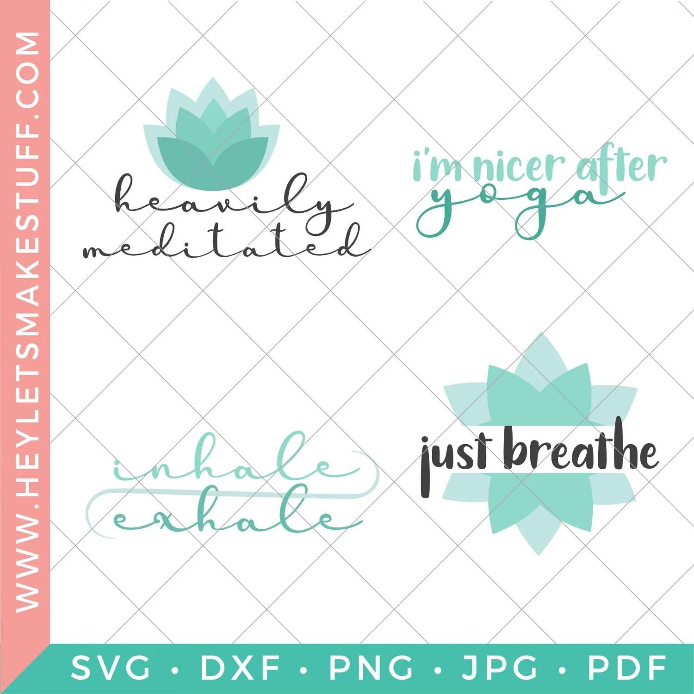 set of four yoga SVG files