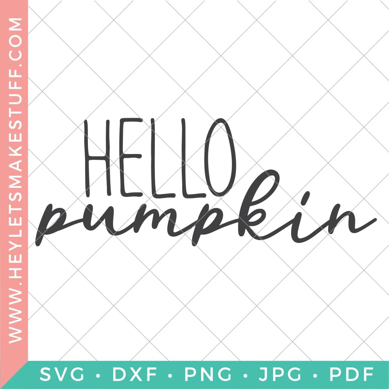 Hello Pumpkin SVG security image