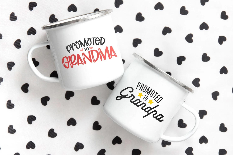 grandparents SVG files on coffee mugs