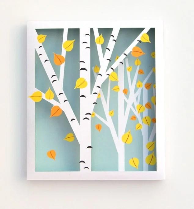 Fall printable paper leaves