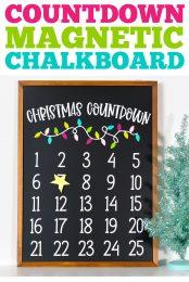 Christmas Countdown Magnetic Chalkboard pin image