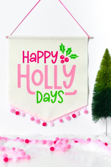 Happy Holly Days Banner