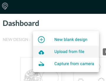 Screenshot of uploading file