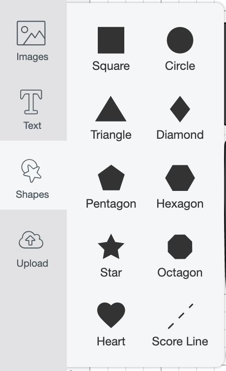 Cricut Design Space: Shapes tool