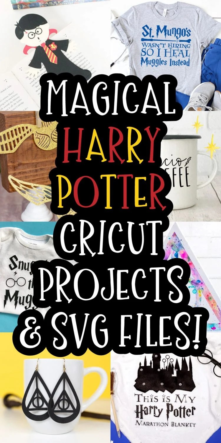 Magical Harry Potter Cricut Projects & SVG Files pin image
