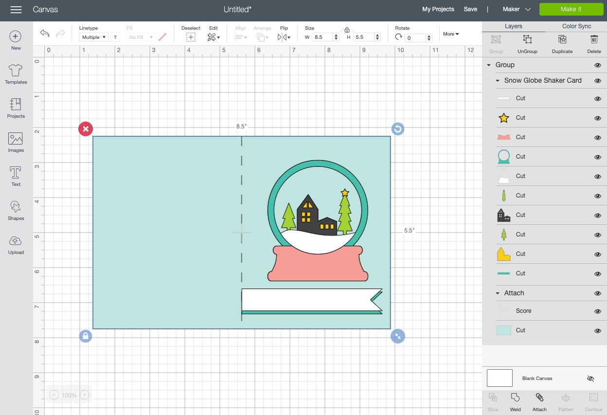 Cricut Design Space: Upload card file