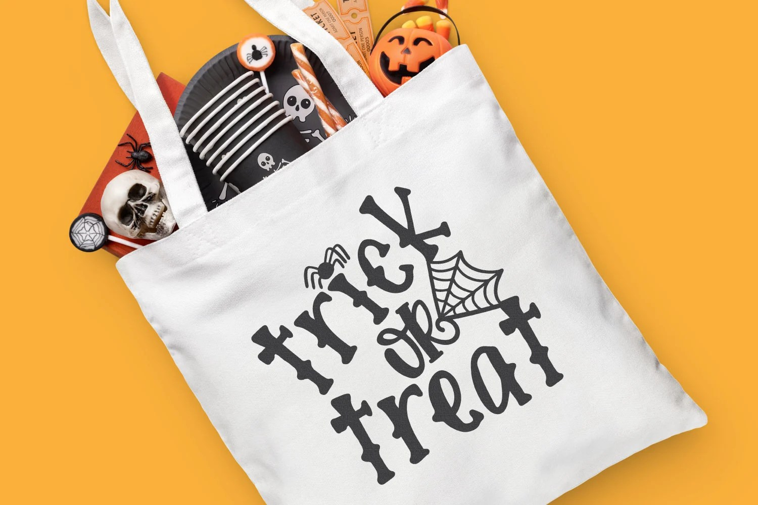 Trick or Treat SVG tote