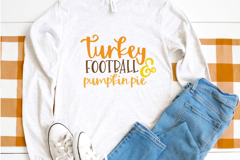 Turkey football and pumpkin pie SVG on shirt