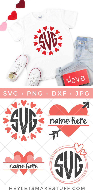 Heart Monograms SVG Bundle pin image