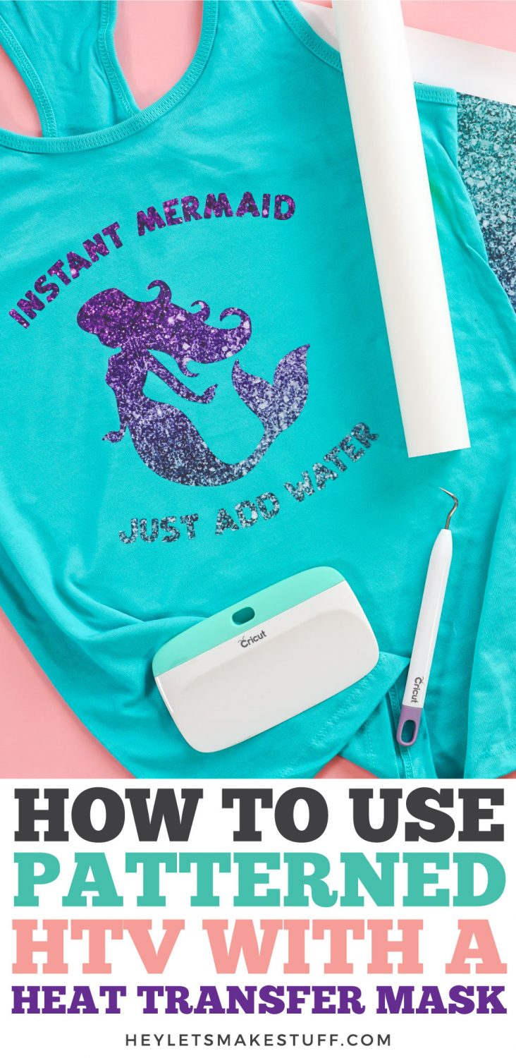 How to Use Patterned HTV with a Heat Transfer Mask pin image