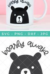 Bearly Awake SVG pin image