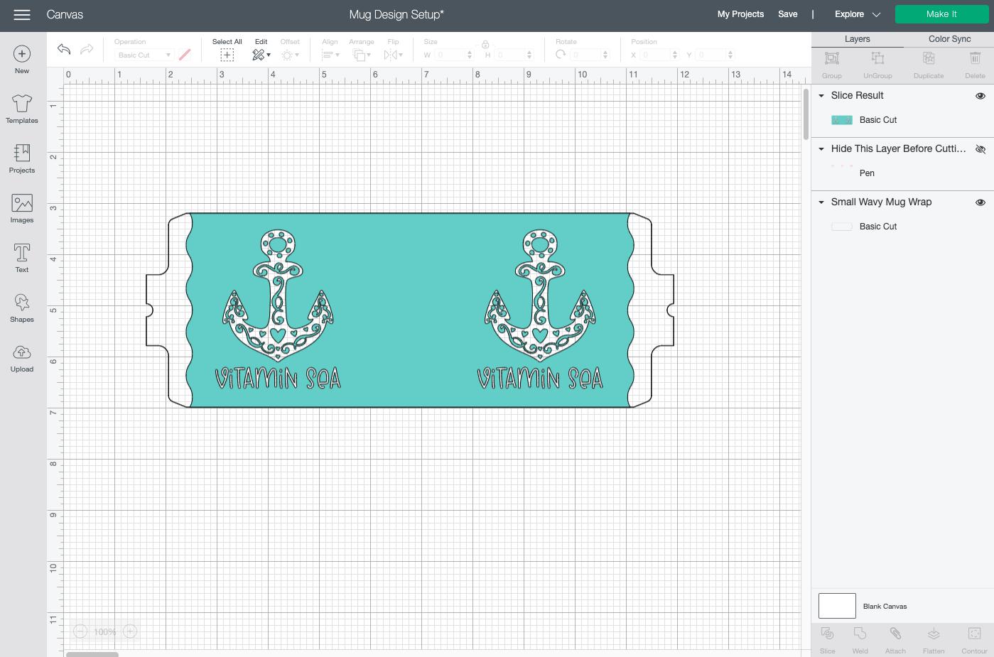 Cricut Design Space: Mug Press Guides hidden on canvas