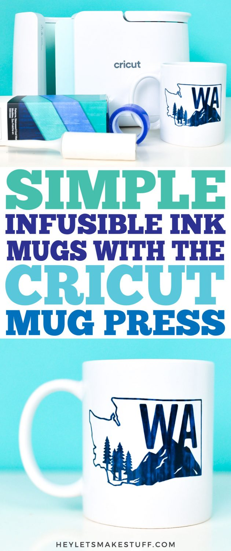 Simple Infusible Ink Mugs with the Cricut Mug Press pin image