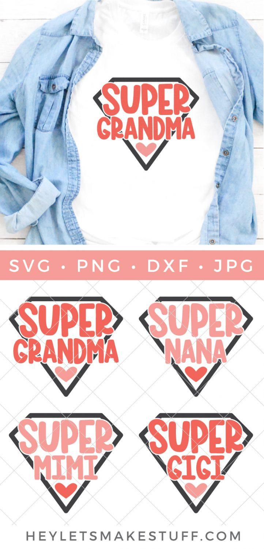 Super Grandma SVG pin image