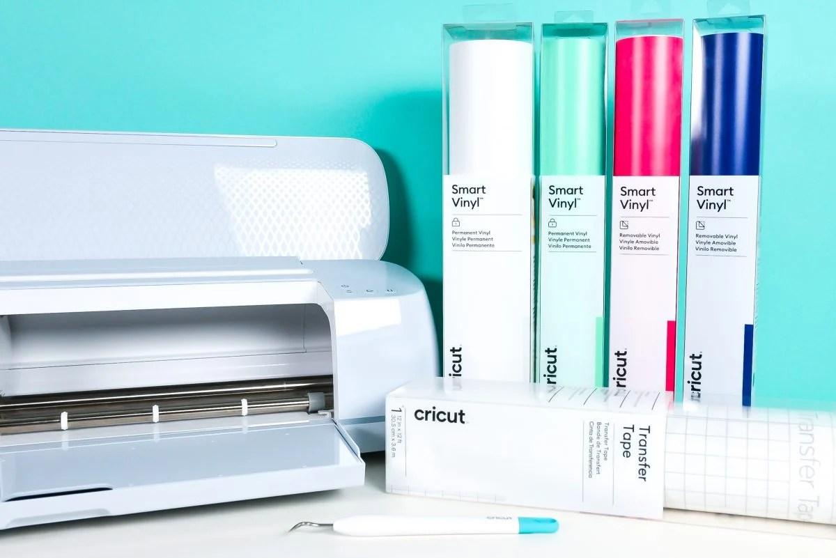 Cricut Maker 3 + four colors of Smart Vinyl + Transfer Tape + Weeding Hook
