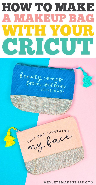 How to Make a Makeup Bag with a Cricut pin image