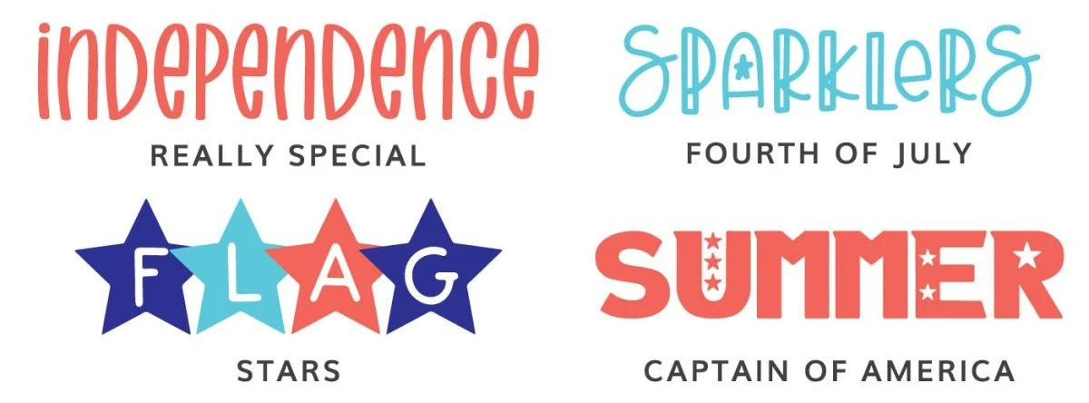 Fonts: Really Special, Fourth of July, Stars, Captain of America