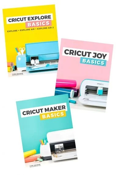 Three Cricut Basics Book Covers in a stack