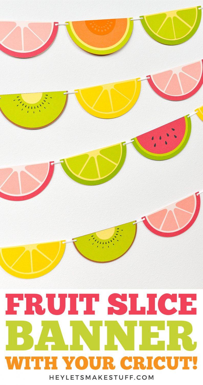Fruit Slice Banner Pin Image