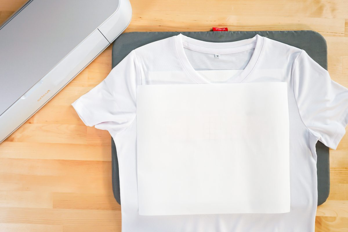 Butcher paper on shirt