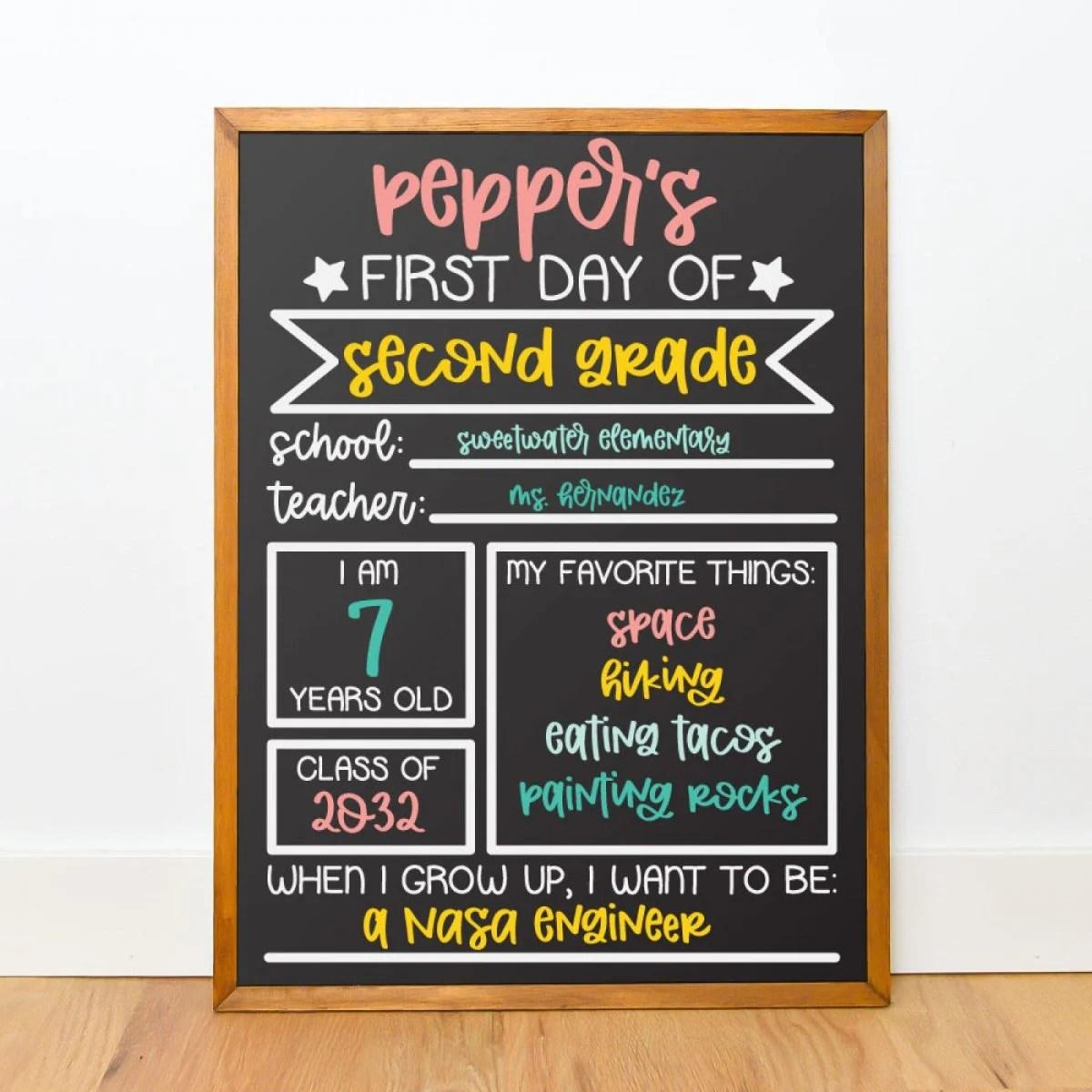 Chalkboard mockup with Smudge font