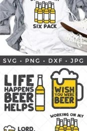 Beer SVG Files Pin Image