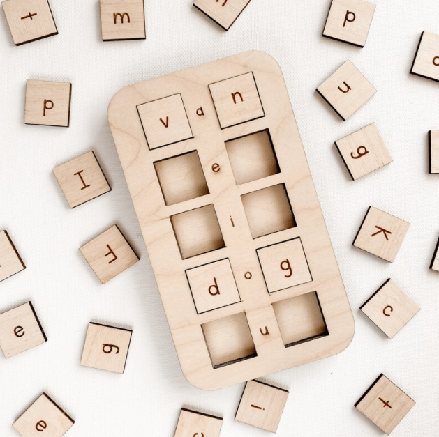 Vowel Board from Home Creek Co