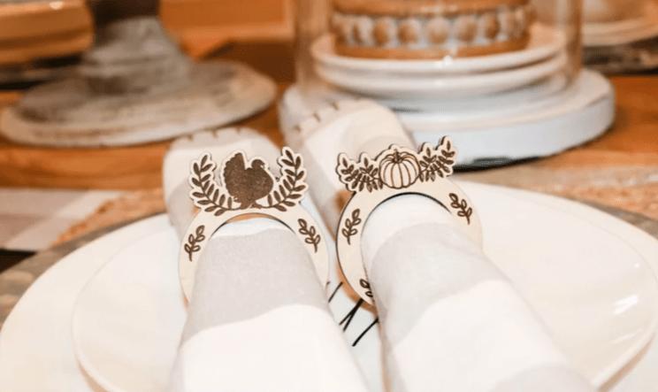 Glowforge Napkin Rings from Design Bundles
