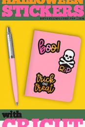 Print then Cut Halloween Stickers Pin #2