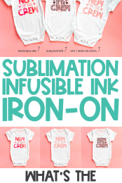 What's the difference between sublimation, cricut infusible ink, and sublimation PIN #3