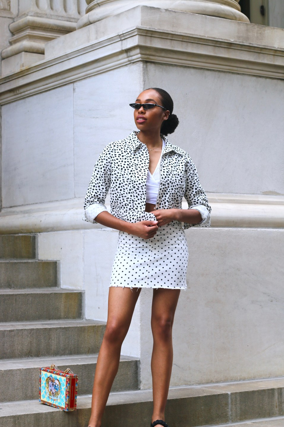 how to style polka dots1
