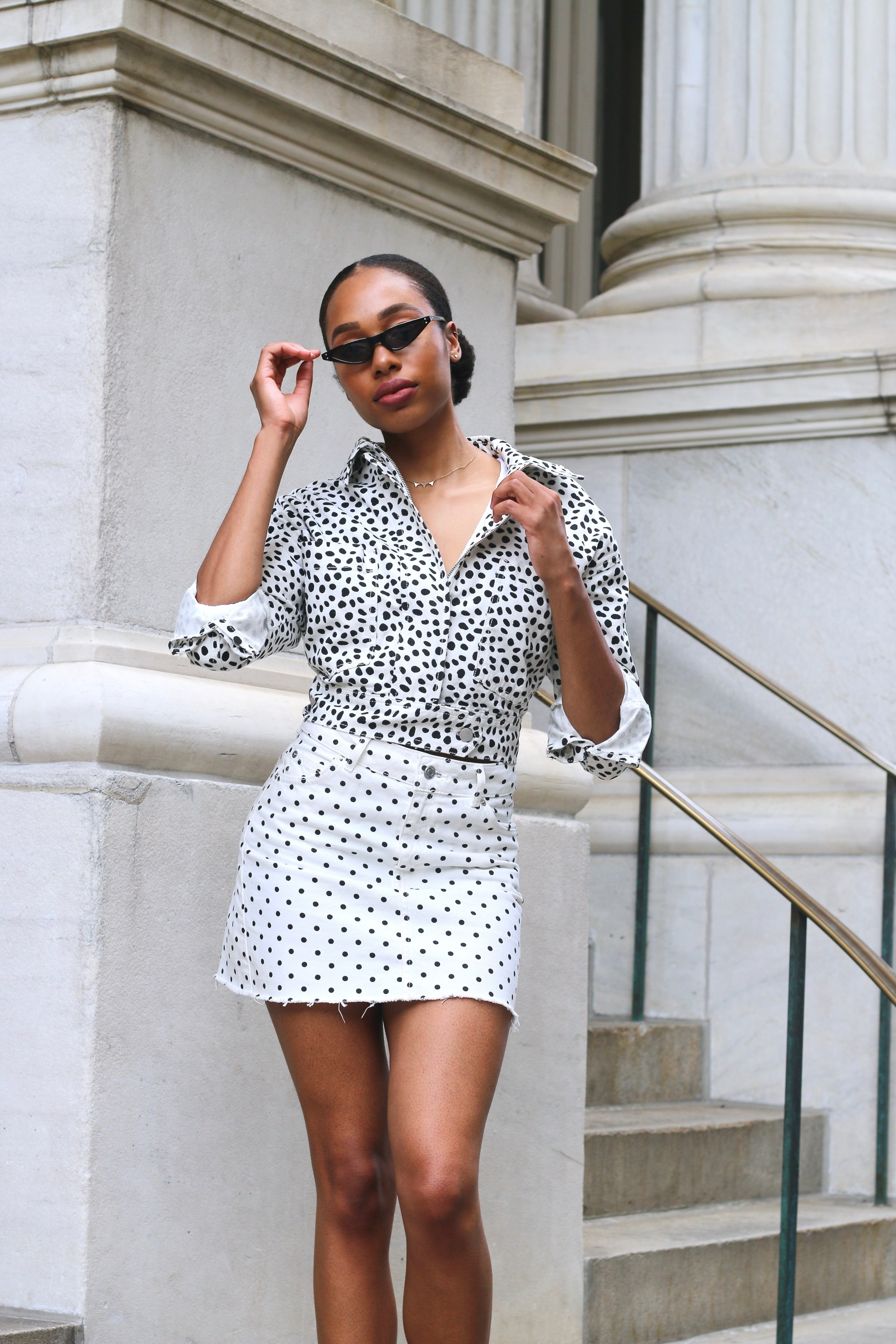 how to style polka dots2