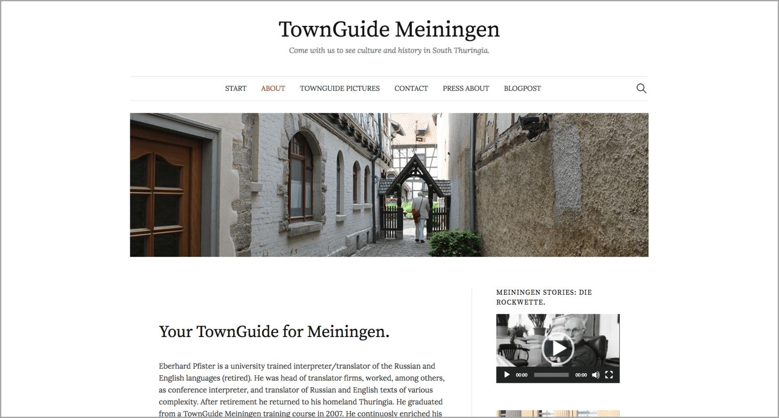 About-Seite www.townguidemeiningen.de