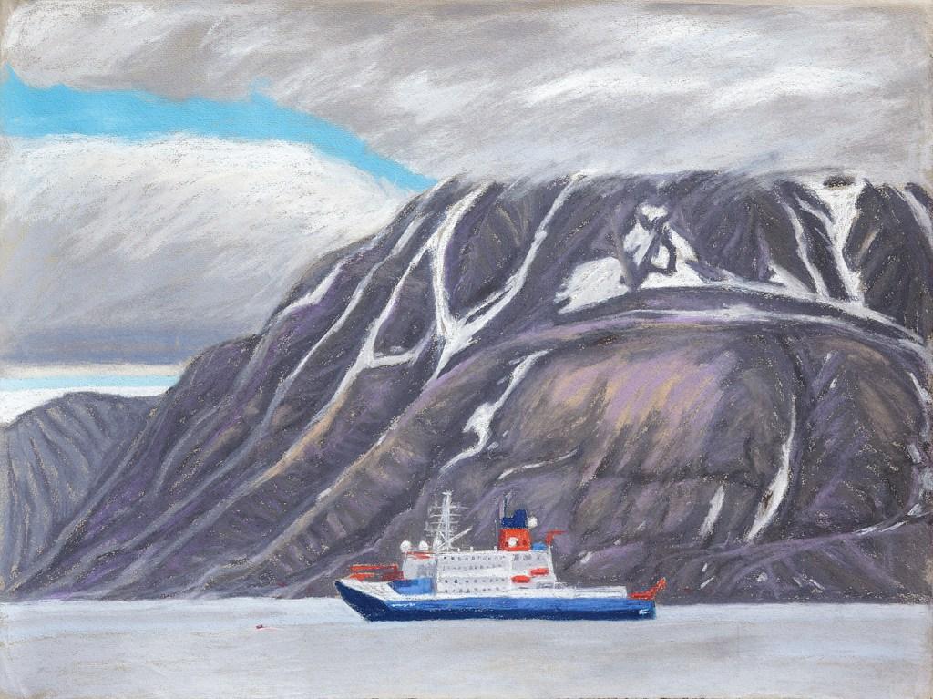 Polarstern in Longyearbyen (c)kheymach Expeditionszeichnen 2017