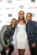 Kofi Siriboe, Issa Rae, and Larenz Tate posed on the red carpet during the Girls Trip movie screen at the Theaters At Canal Place in New Orleans on Friday, June 30th, 2017.
