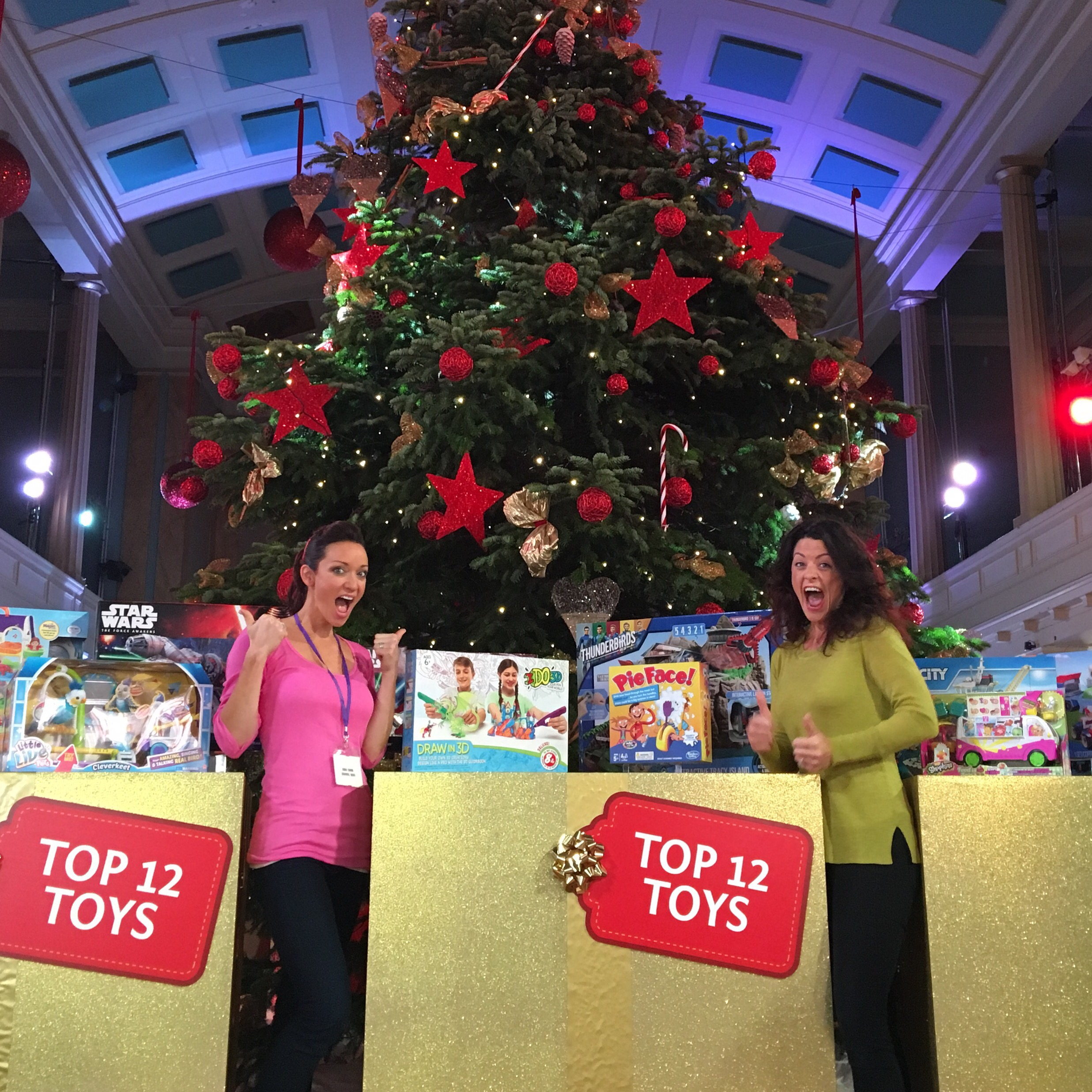 we were asked by our sponsors channel mum to represent them at the announcement of the dream toys top 12 toys for christmas - A Dream For Christmas