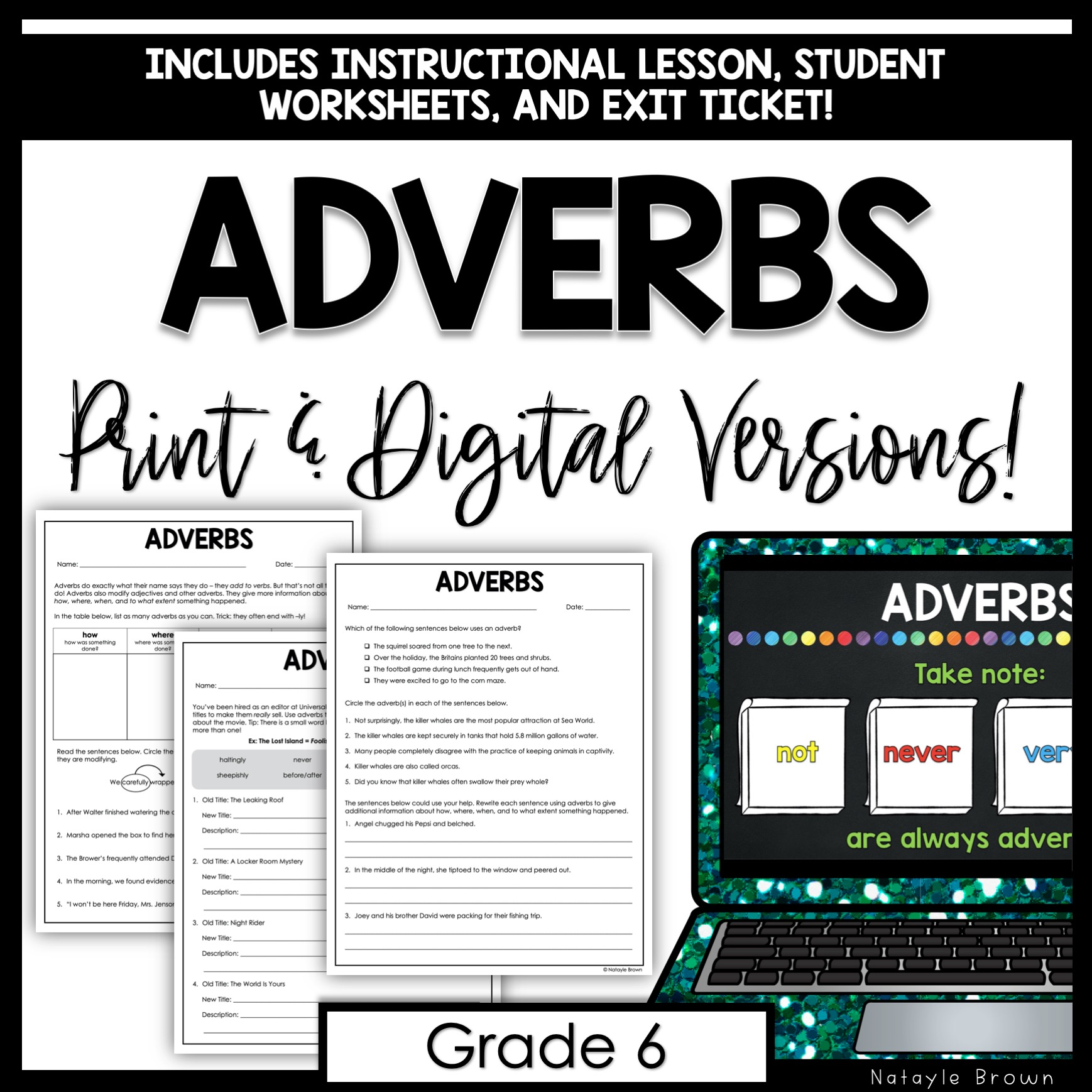 Adverbs For Middle School