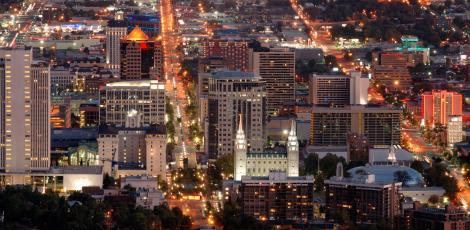 Salt Lake Downtown at Night
