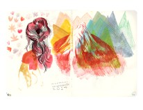 The Nave Sketchbook Show_PRINTS_Mtns an hair