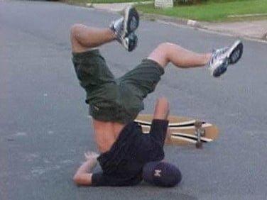 Skateboard-Crash