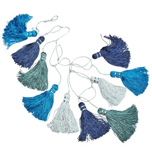 "40"" Silver And Navy Garland - Tassel Garland"