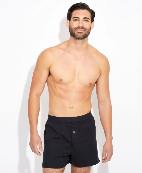 Men's Black Knit Boxers L