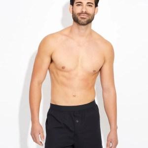 Men's Black Knit Boxers L
