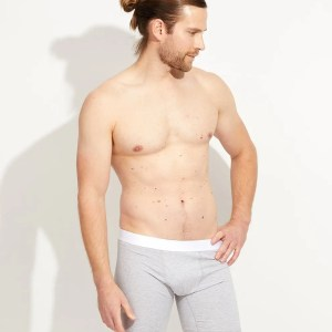 Men's Heather Grey Extended Boxer Brief S