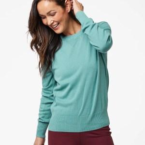 Women's Blue Spruce Sweater Sweatshirt 2X