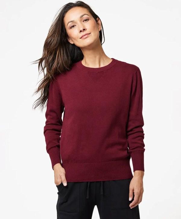 Women's Cabernet Sweater Sweatshirt 2X
