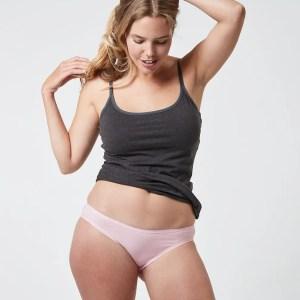 Women's Chalk Pink Classic Fit Bikini L