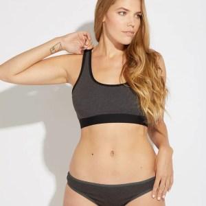 Women's Charcoal Heather Classic Fit Bikini 2X