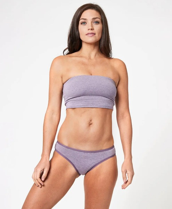 Women's Light Thistle Heather Classic Fit Bikini L